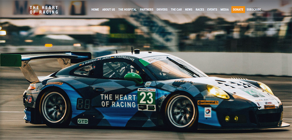 Heart of Racing Web Site